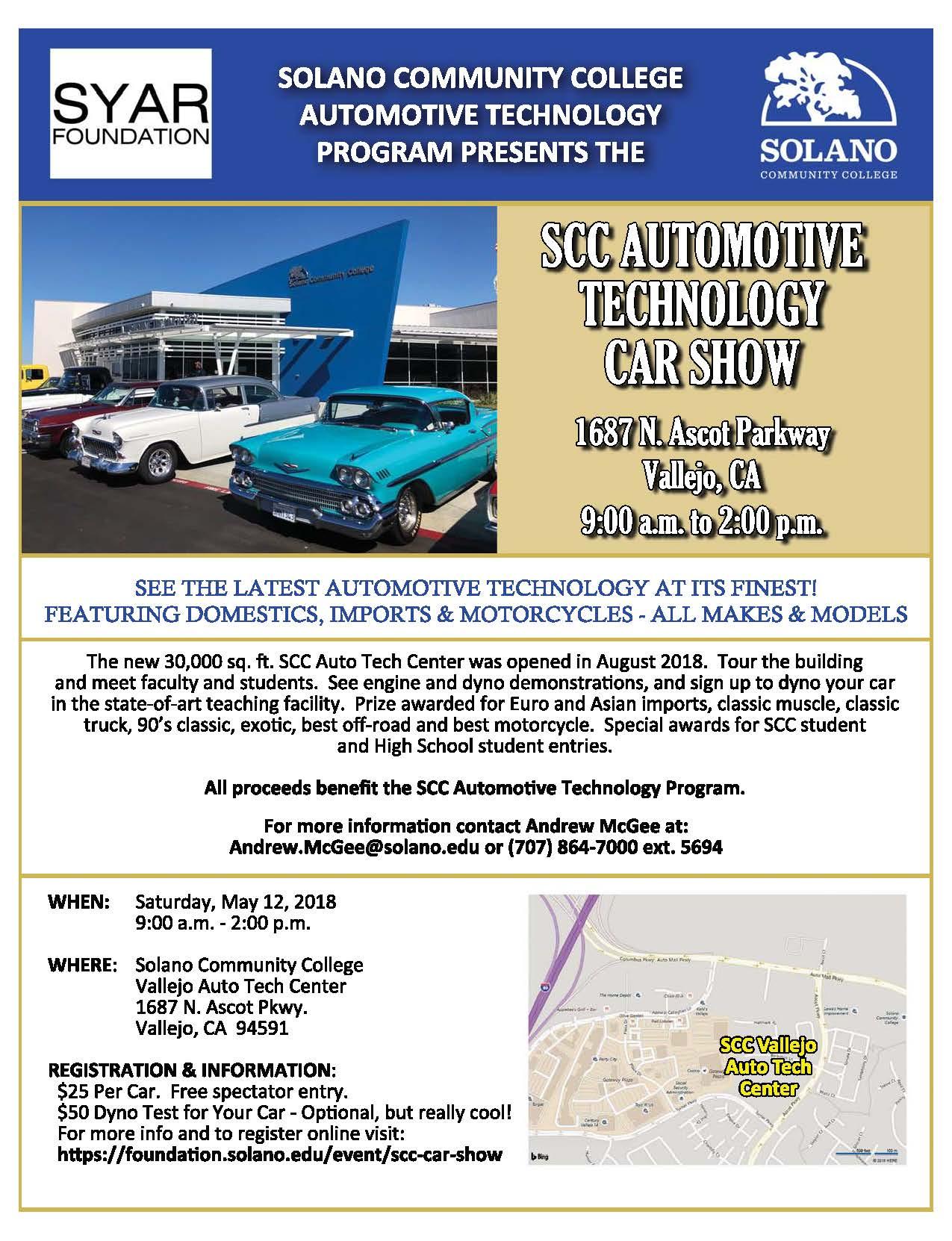 SCC Automotive Technology Car Show - foundation solano edu