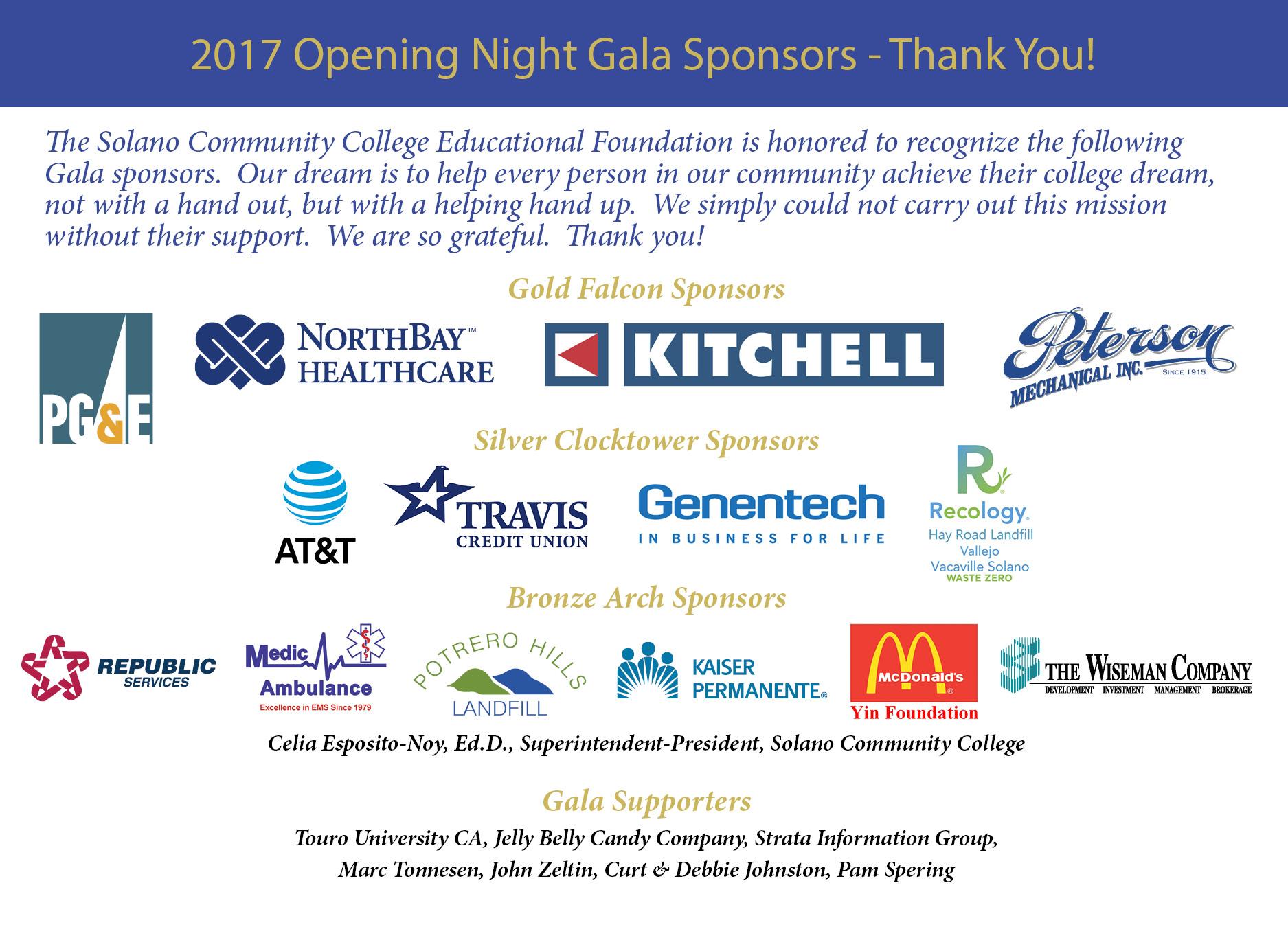 foundation solano edu solano community college opening night gala